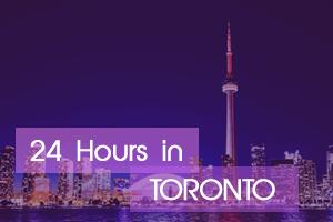 24 Hours in Toronto Vegan Guide - Toronto skyline at night