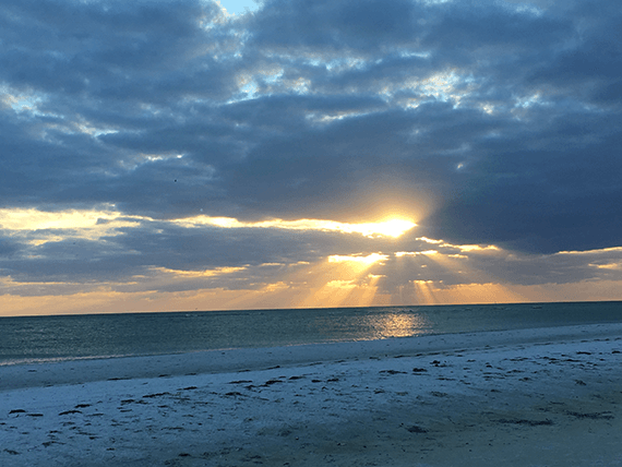 Sunset on Siesta Key beach in Sarasota