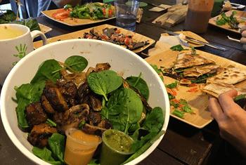 Salad at Choices Cafe, Wynwood Miami FL