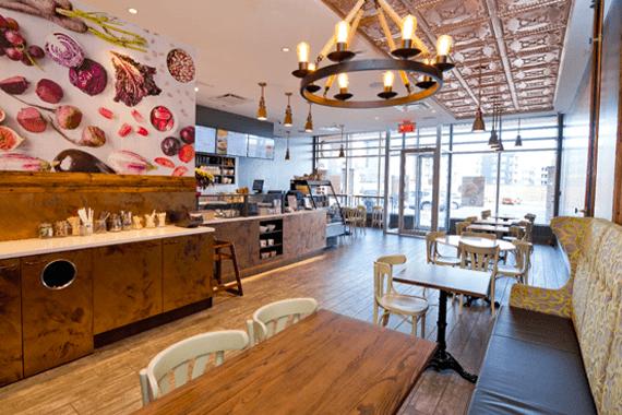 Interior picture of Copper Branch vegan restaurant