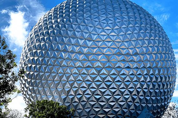 Epcot entrance at Walt Disney World, Florida