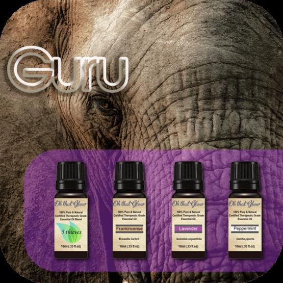 Guru essential oils kit.