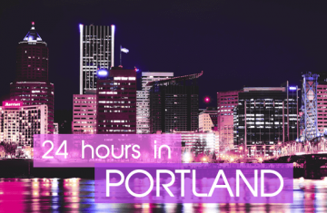 24 Hours in Portland Vegan Travel Guide - Portland skyline at night