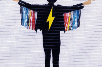 Street art mural in downtown Toronto